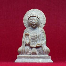 Buddha Varanasi Marmor Figur geschnitzt 13,1 cm