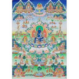 Thangka Akshobhya flawless high quality printing