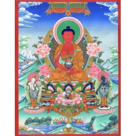 Thangka Amitabha flawless high quality printing