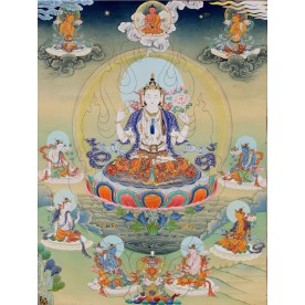 Thangka Chenresig Avalokiteshvara flawless high quality printing