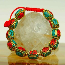 Massive colorful bracelet from India