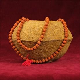 "Mala black necklace ""Antik look"" Rudraksha Nepal Buddha 86g"
