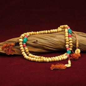 Buddhistische Gebetskette Mala 108 Yak Knochen