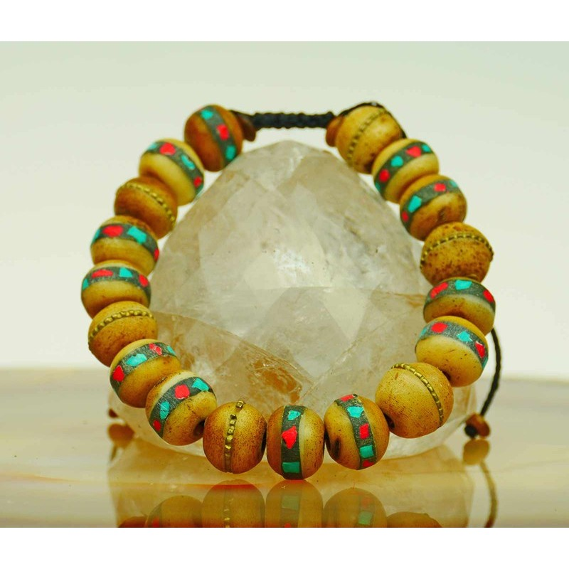 Bracelet with yak bone