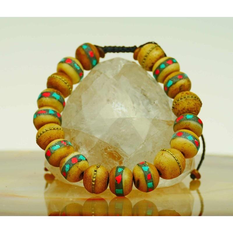 Bracelet with yak bone