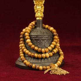 Buddhistische Gebetskette Mala aus Yak-Knochen-Perlen (8mm)