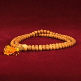 Mala rosewood brown reddish necklace grain balls Buddhism Vietnam 87b