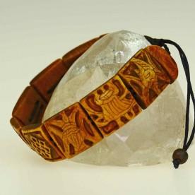Armband aus dunkelbraun gefärbtem Yak Knochen