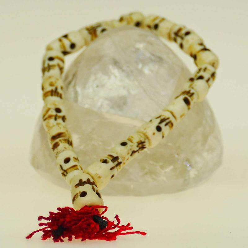 Skull bracelet made of bone