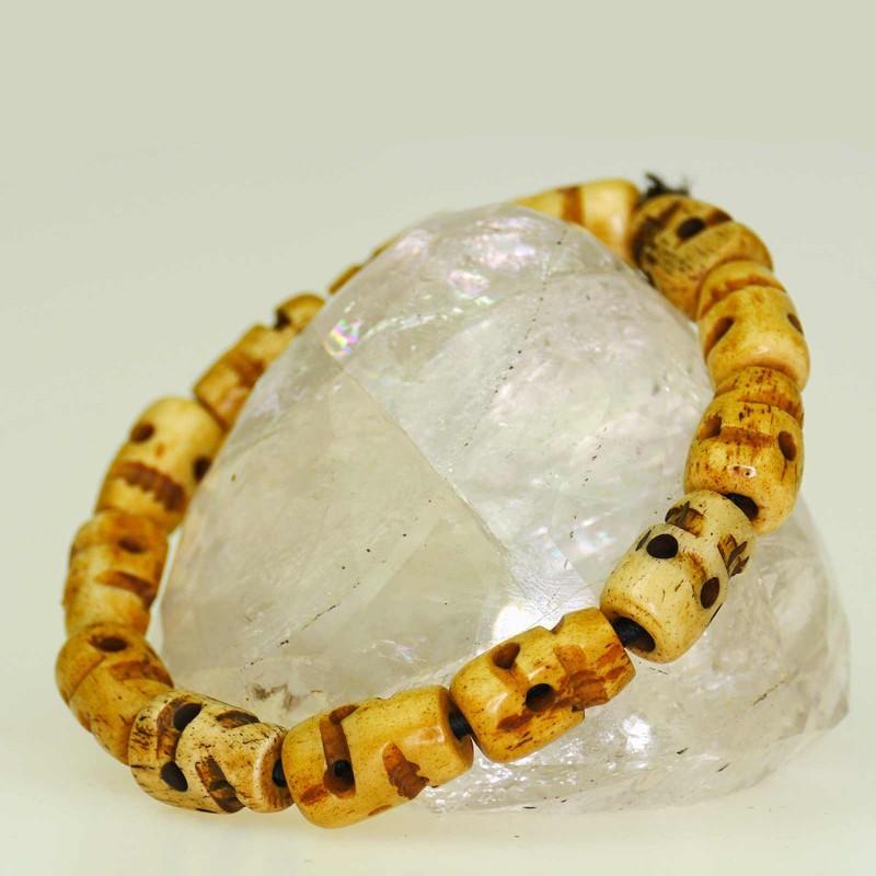 Great skull bracelet made of bone
