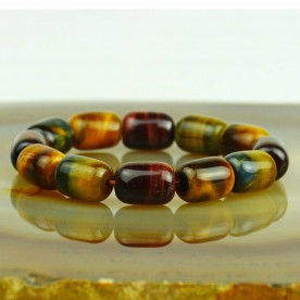 Beautiful bracelet from Tiger eye and Cat eye