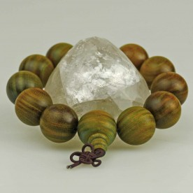 Ball bracelet from green wood