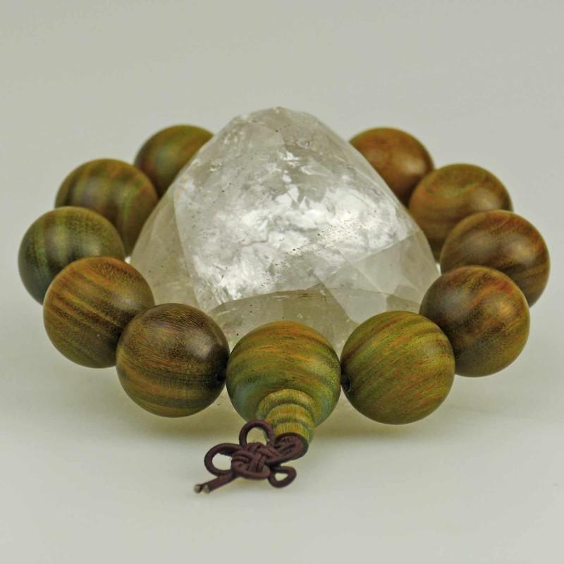Ball bracelet with genuine sandalwood beads