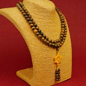 Mala Tigerauge Edelstein Heilstein Nepal Dharma Guru Stupa Buddhismus