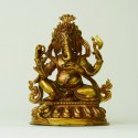 Detailed Ganesha stature of copper in fine quality
