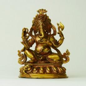 Detaillierte Ganesha Statur aus Kupfer in feiner Qualität